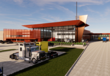 rendering of service bay