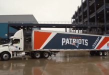 Patriots truck headed for NYC