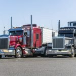 Tractor Trailers at Truck Stop