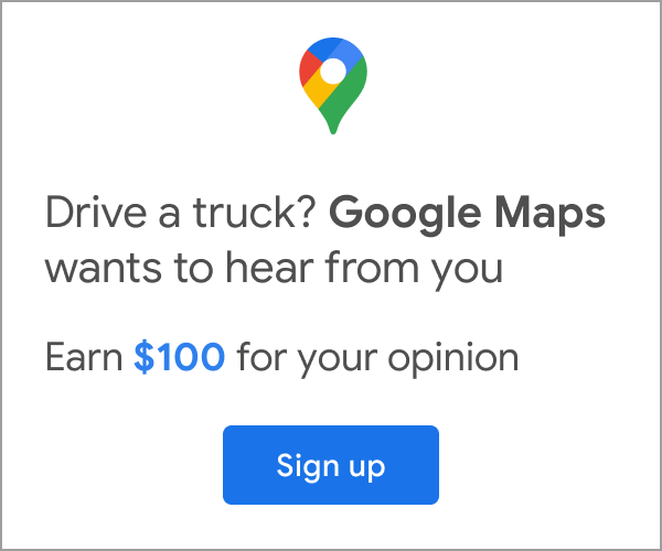Google Trucker Survey Ad
